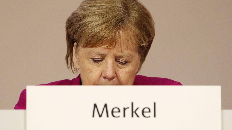 Angela Merkel durante el congreso de la CDU en Hamburgo. (EFE)