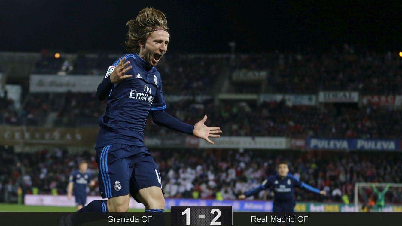 El Real Madrid funciona con Zidane solo en casa y sigue vivo gracias a Modric