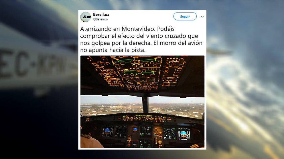 El piloto bilbaíno de 27 años que lo peta en la red enseñando lo que nunca ves en un avión