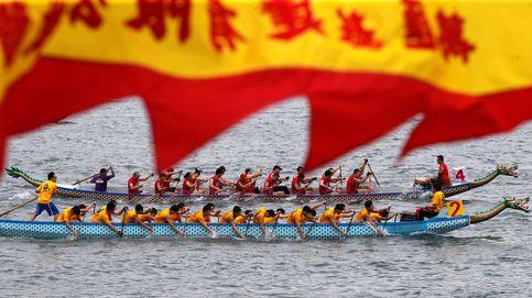 Los Barcos Dragón llegan a las aguas de Hong Kong