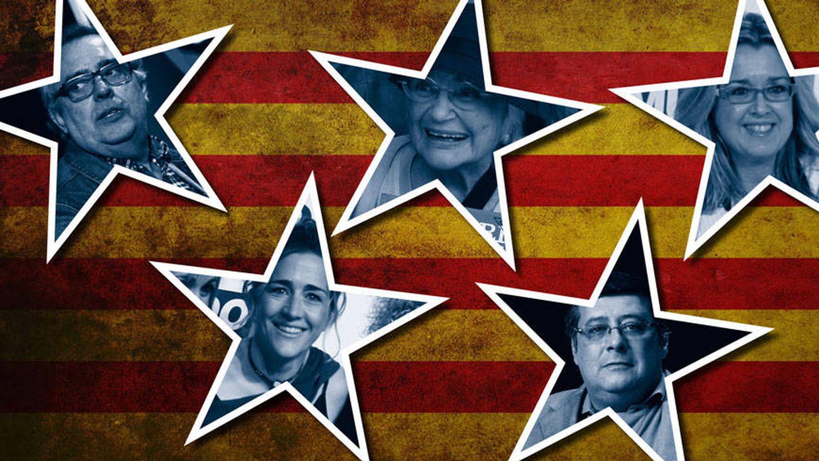 Foto: Algunos de los famosos del procés en un fotomontaje de Vanitatis.