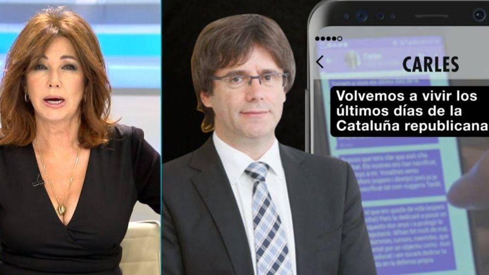 Ana Rosa muestra en exclusiva el 'testamento político' de Puigdemont