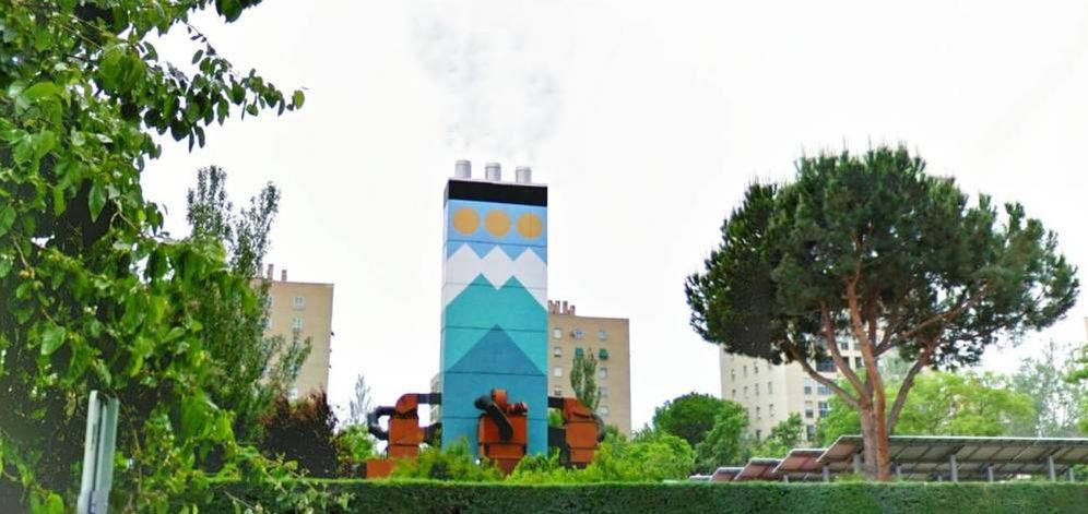 Foto: Exterior de la central térmica de Meseta de Orcasitas.