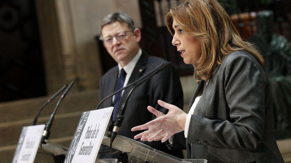 Foto: La presidenta de la Junta de Andalucía, Susana Díaz (d), y el presidente de la Generalitat de Valencia, Ximo Puig. (EFE)