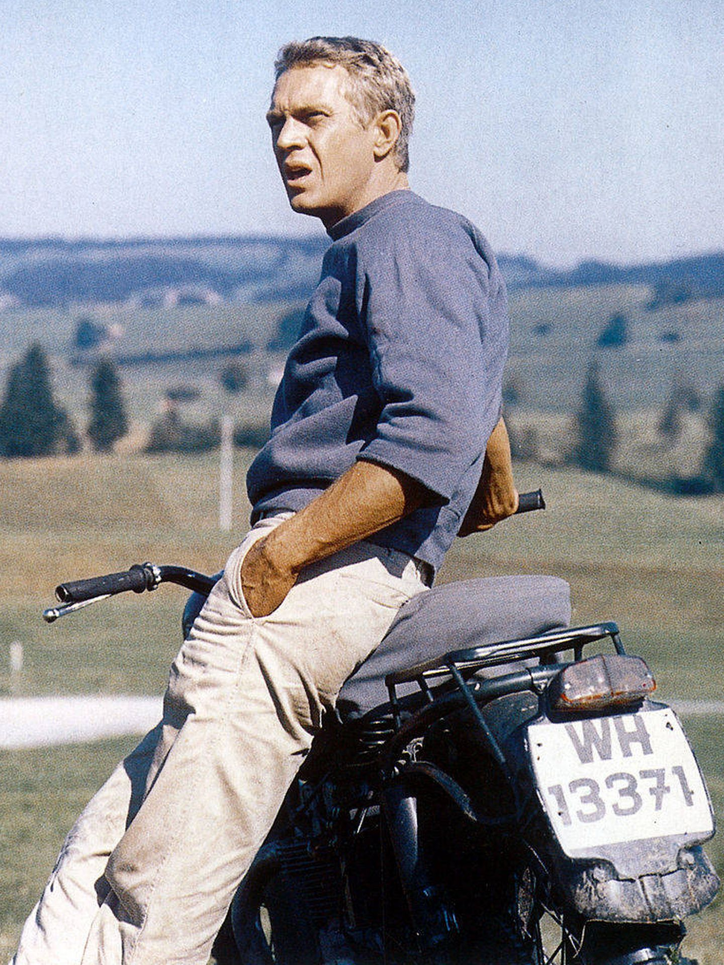 Steve McQueen, en 'La gran evasión, 1963. (Getty)