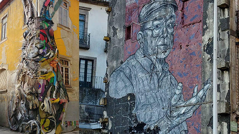 Dos ejemplos de arte urbano. (VA)