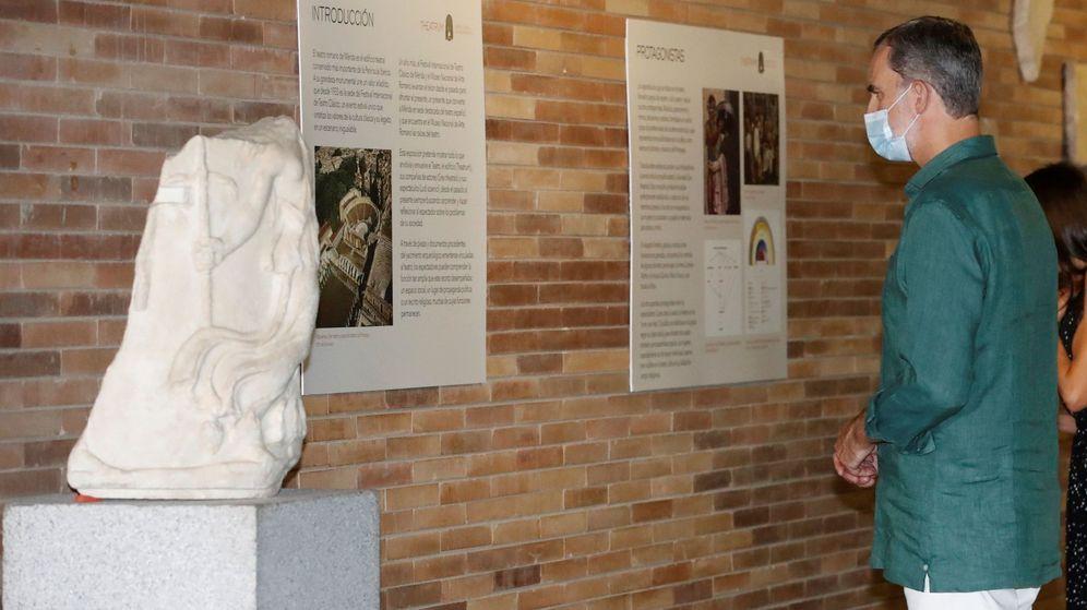 Foto: El rey Felipe VI, visitando el Museo Nacional de Arte Romano de Mérida. (EFE)