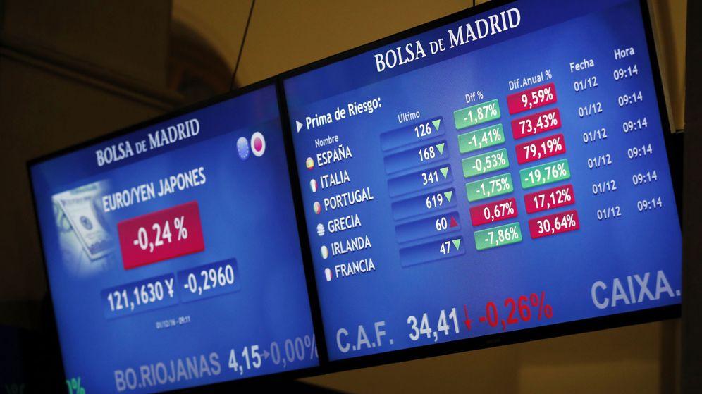 Foto: Monitores de la Bolsa de Madrid. (EFE)