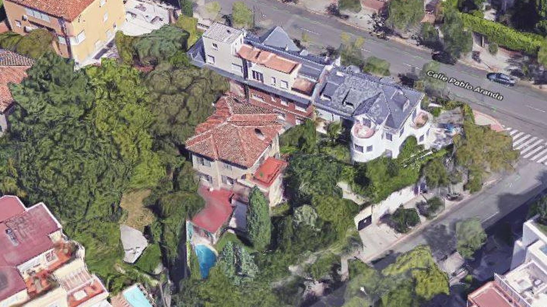 Vista aérea de la casa de la condesa de Romanones en Madrid.