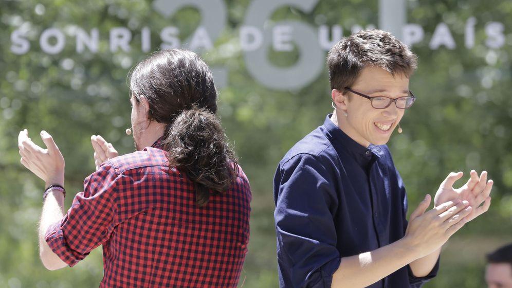 Foto: El líder de Podemos, Pablo Iglesias, y el número dos del partido, Íñigo Errejón. (Efe)