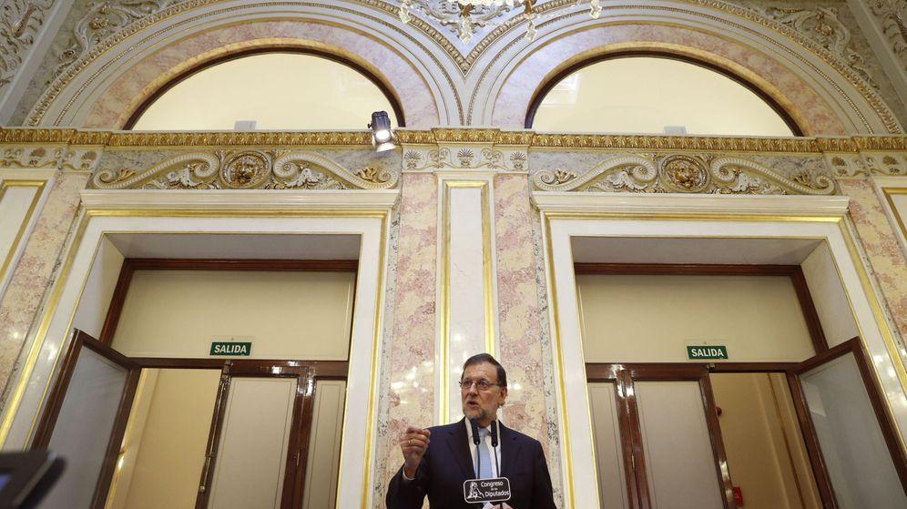 Foto: Comparecencia del presidente del Gobierno en funciones, Mariano Rajoy. (EFE)