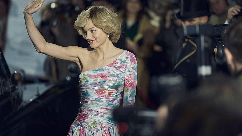 La actriz Emma Corrin, en el papel de Diana de Gales en 'The Crown'. (Netflix)