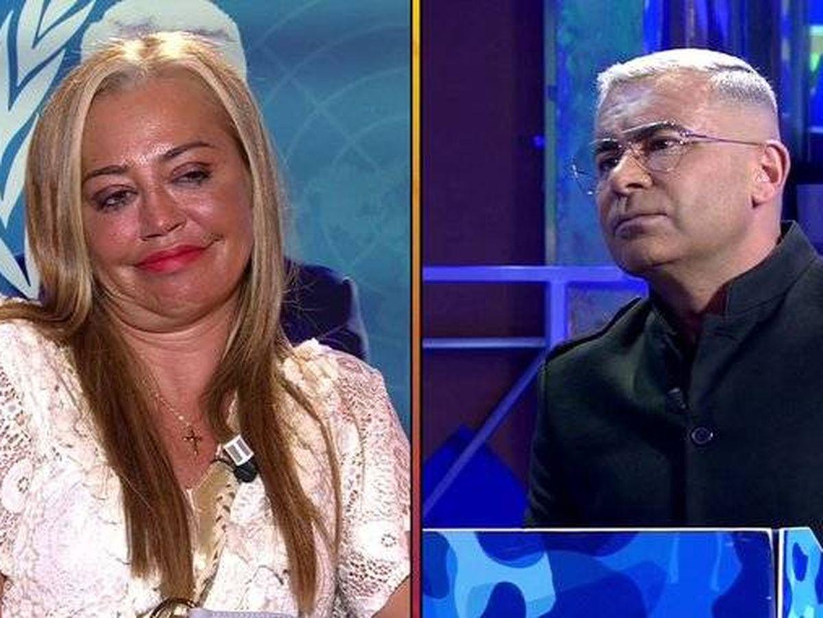 Foto: Jorge Javier y Belén Esteban, en 'Sálvame'. (Telecinco)