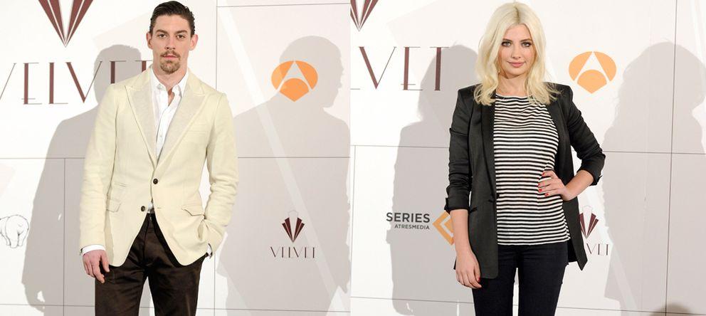 Foto: Adrián Lastra y Miriam Giovanelli en la presentación de 'Velvet' el pasado mes de febrero (Gtres)