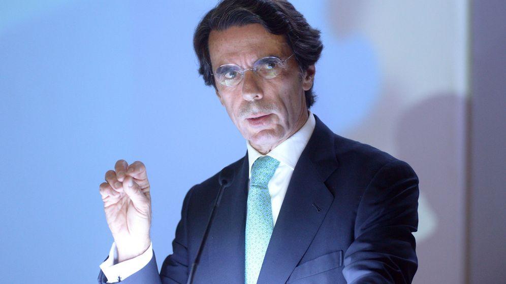 Foto: José María Aznar, durante un acto en El Salvador (EFE)