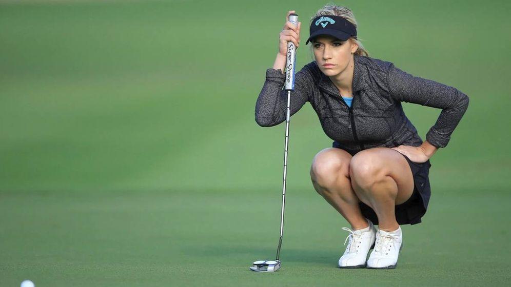 Foto: Paige Spiranac, durante un torneo de la pasada temporada. (Reuters)