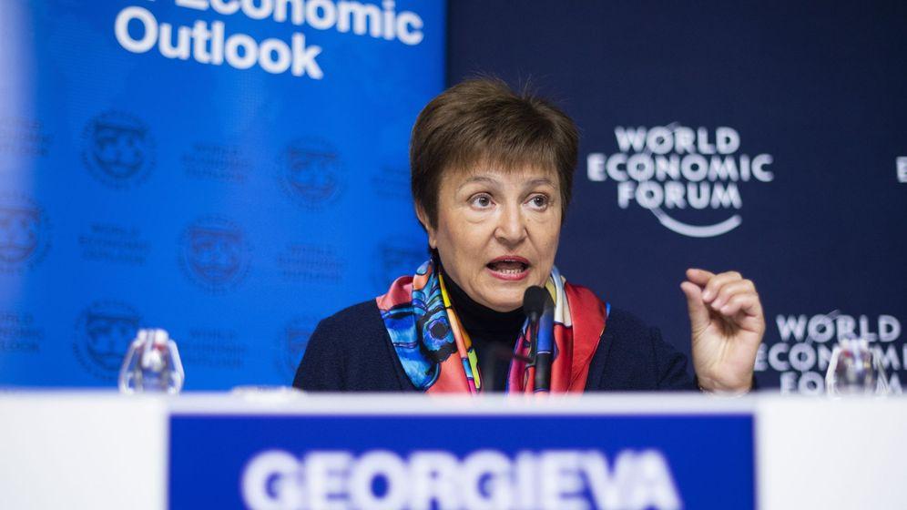 Foto: La directora gerente del FMI, Kristalina Georgieva, en el pasado Foro de Davos. (EFE)