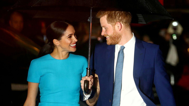 Meghan y Harry, en uno de sus últimos actos públicos. (Reuters)