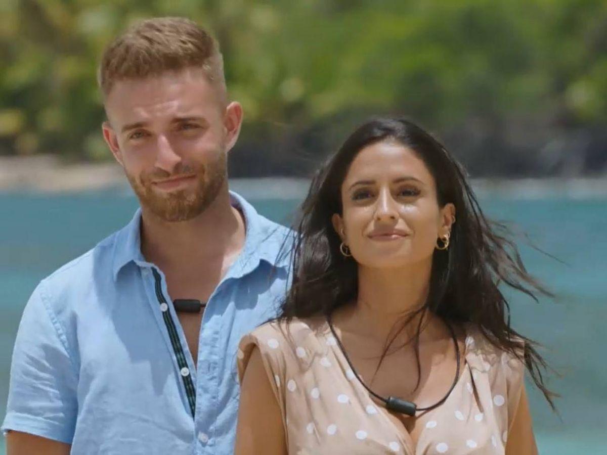Foto: Ángel e Inma, pareja de 'La isla de las tentaciones 2'. (Mediaset)
