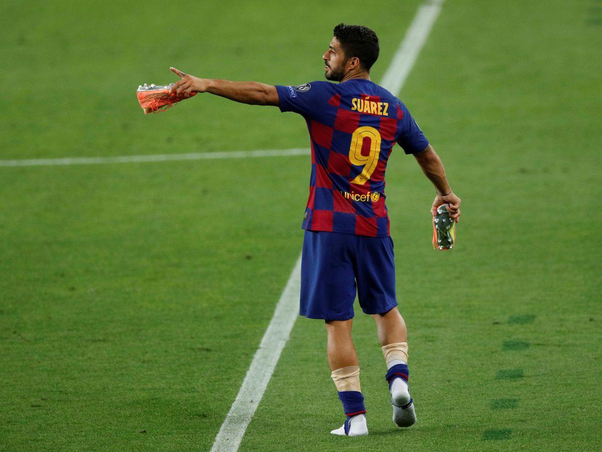 Foto: Luis Suárez, en uno de sus últimos partidos como jugador del Barcelona. (Reuters)