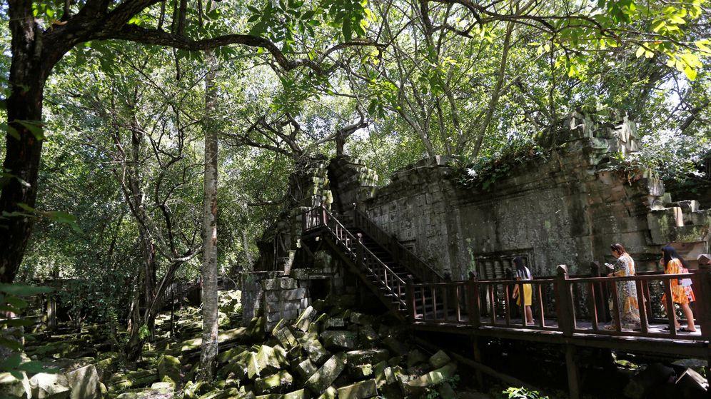 Foto: La selva de Camboya esconde muchas estructuras ocultas. (Reuters)