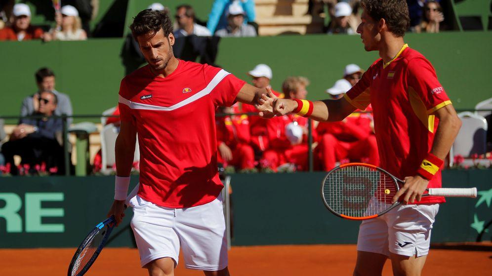 Foto: Feliciano López y Pablo Carreño. (EFE)