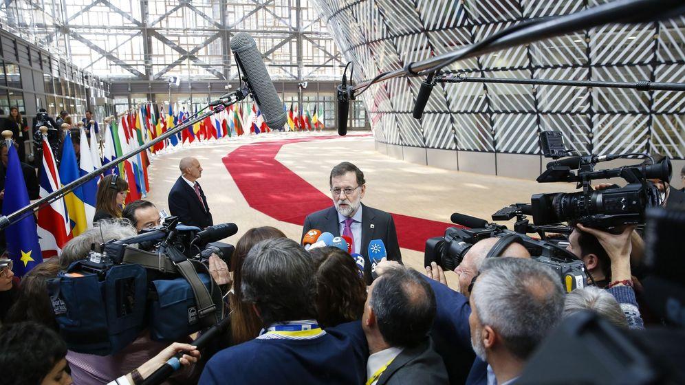 Foto: El presidente del Gobierno, Mariano Rajoy, este sábado en Bruselas. (EFE)