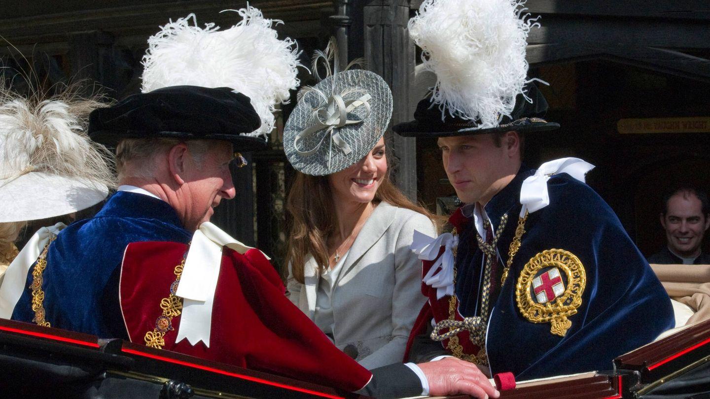 Kate y Guillermo en la ceremonia de 2011. (Getty)