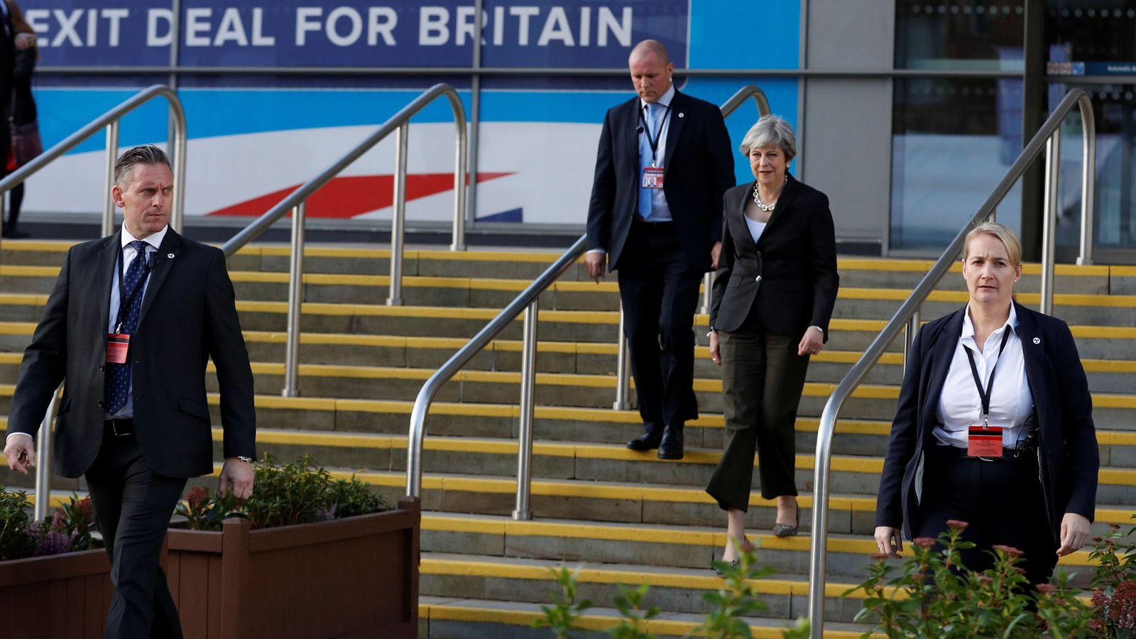 Foto: Theresa May llega a la Conferencia del Partido Conservador en Mánchester, el pasado 3 de octubre de 2017. (Reuters)