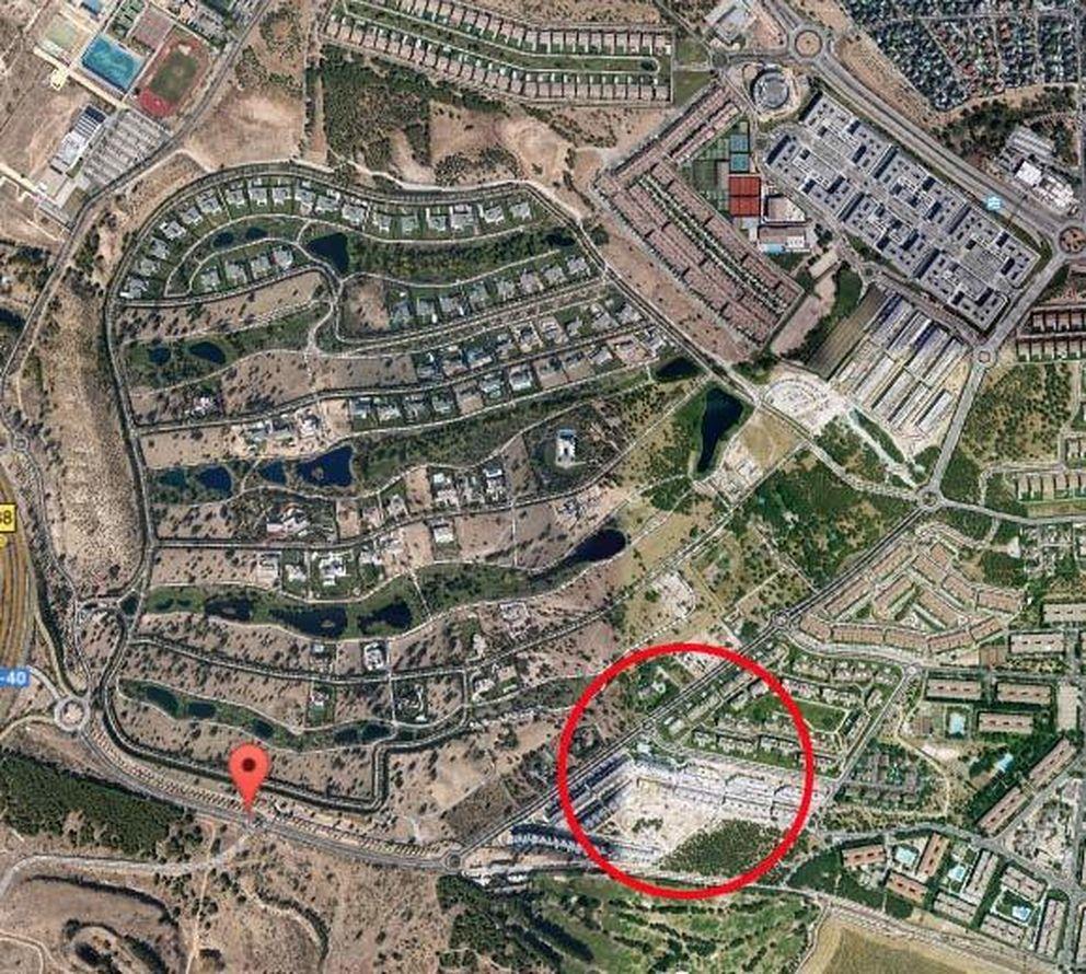 Vista aérea de la urbanización 'La finca'