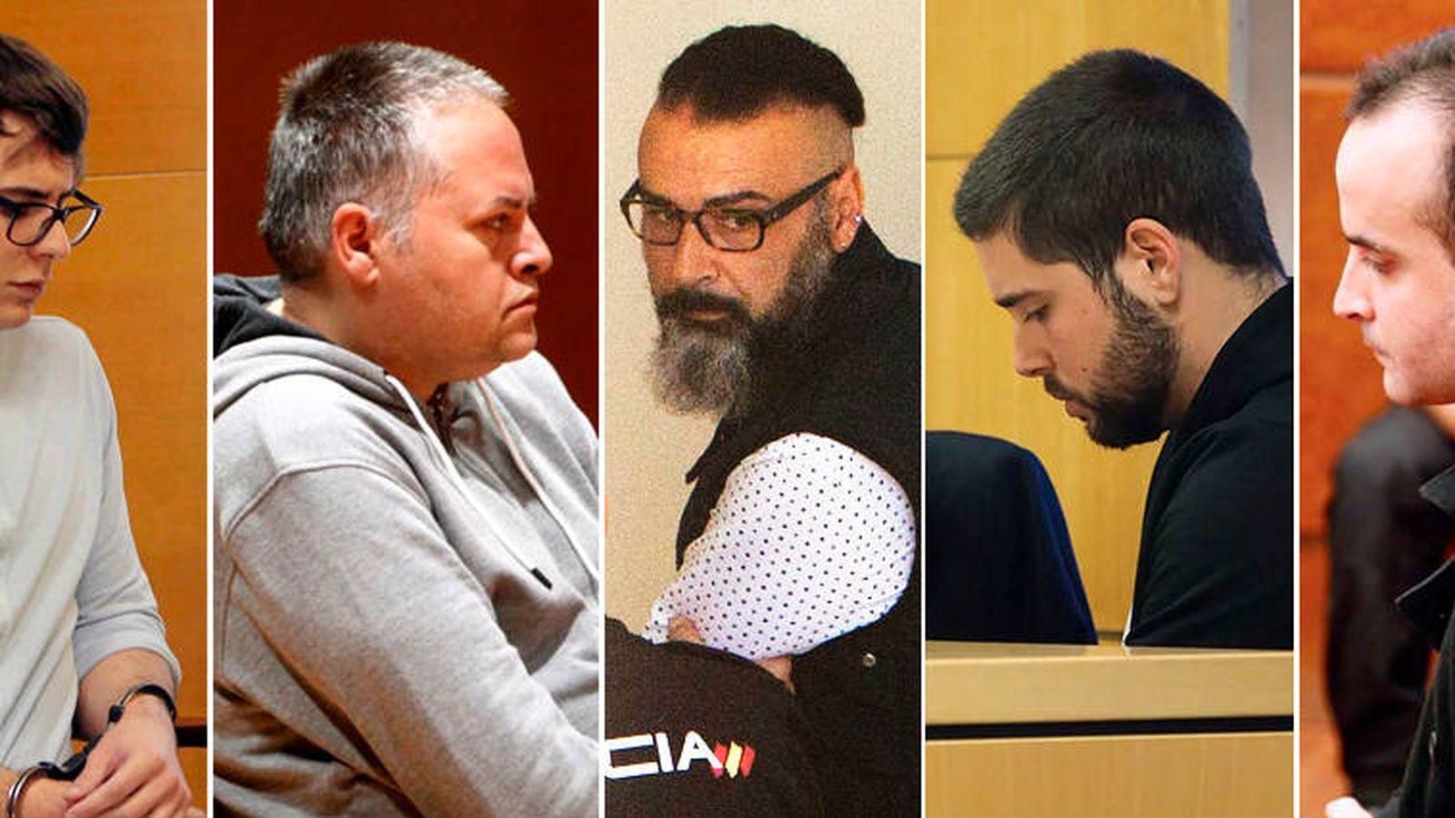 Foto: De izq. a der.: Patrick Nogueira, Marcos Miras, David Oubel, Sergio Díaz y Daniel Montaño. (EFE)