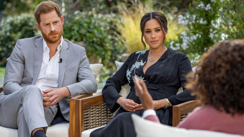 Harry y Meghan, durante su entrevista con Oprah Winfrey. (Reuters)