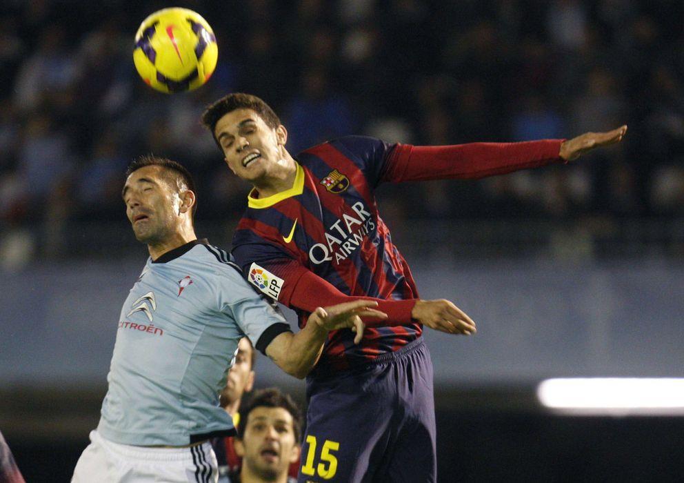 Foto: Bartra en el duelo ante el Celta de Vigo (Efe).