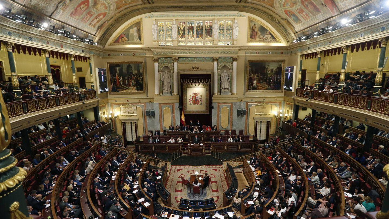 Vista general del hemiciclo del Congreso de los Diputados. (EFE)