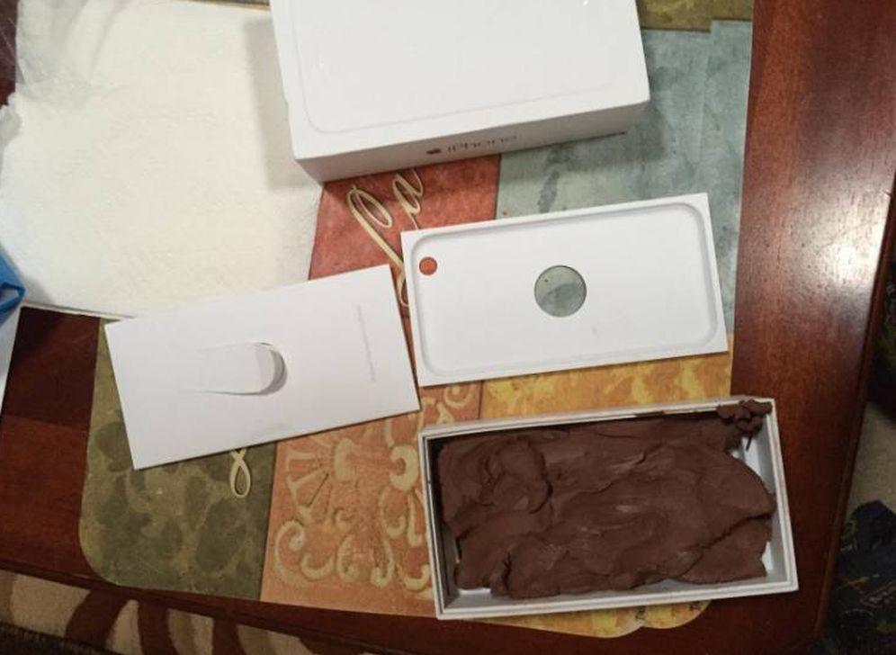 Foto: Alguien ha recibido un bloque de arcilla en vez de un iPhone? No exactamente. | Imagen: Amazon