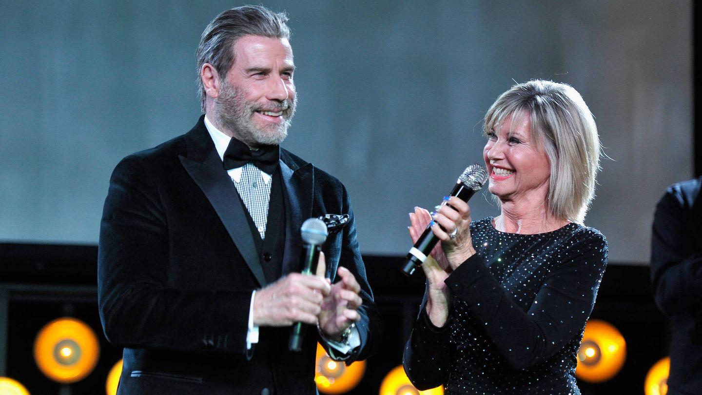 Olivia junto a John Travolta el pasado año. (Getty)