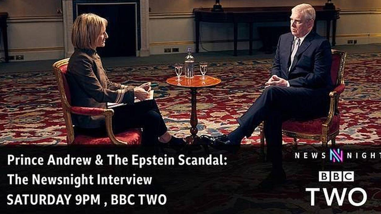 El príncipe Andrés, durante su entrevista con la periodista Emily Maitlis. (BBC)