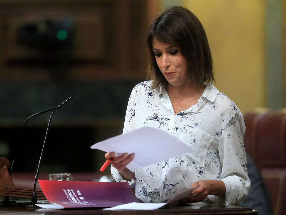 Foto: La diputada de Unidas Podemos Martina Velarde. (EFE)
