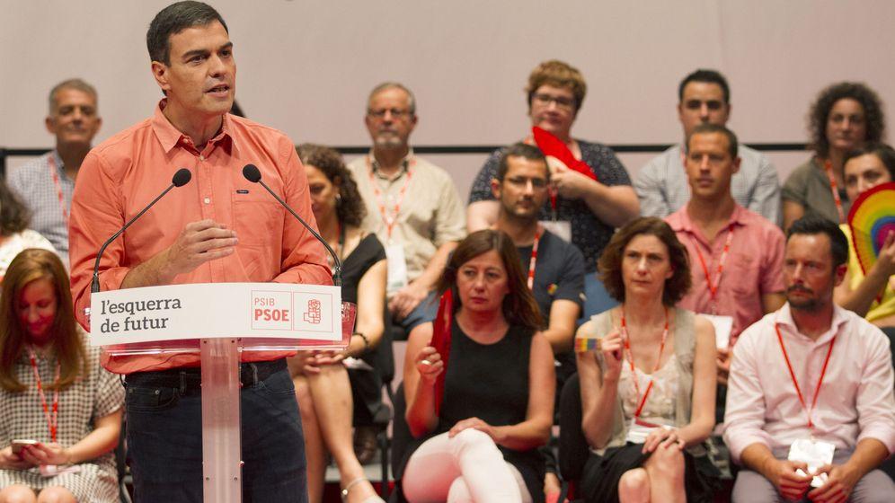 Foto: l secretario general del PSOE, Pedro Sánchez, durante la clausura del XIII Congreso de los Socialistas de Baleares. (EFE)