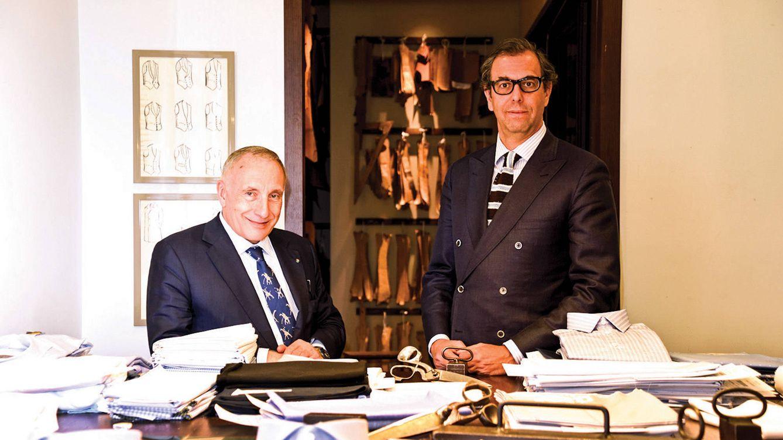 Foto: En la imagen, Silvio Albini (izquierda) junto a Luis Sans, gerente de Santa Eulalia.