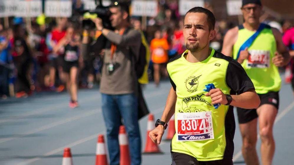 Foto: En la imagen, Iván Penalba López durante una carrera. (FOTOS cedidas por Iván Penalba)