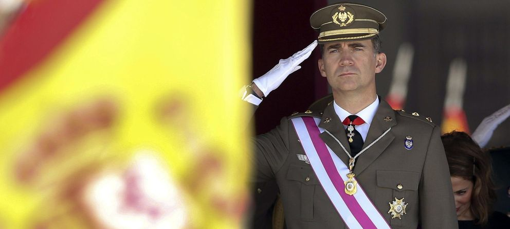 Foto: El Príncipe de Asturias durante la ceremonia de la Orden de San Hermenegildo. (EFE)