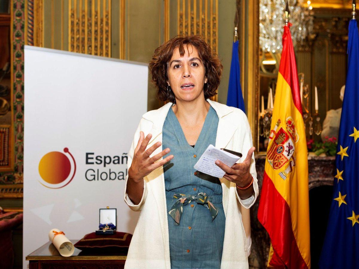 Foto: Irene Lozano, nueva presidenta del CSD, el pasado 20 de septiembre en París. (EFE)