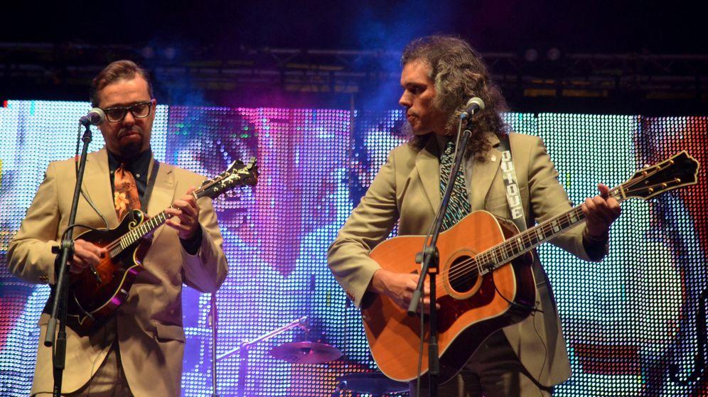 Foto: Hermanos Cubero durante una actuación en Plasencia en el verano de 2017. (EFE)
