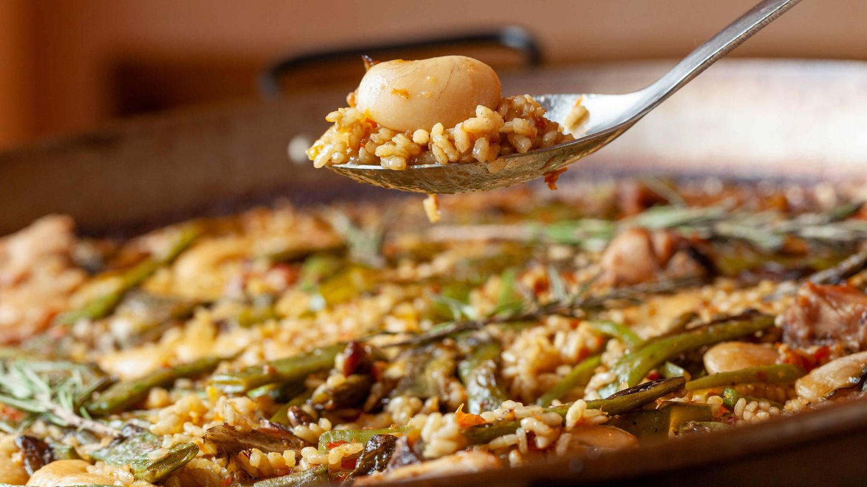 Paella valenciana del restaurante Berlanga.