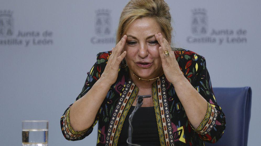 Foto: La vicepresidenta de Castilla y León, Rosa Valdeón, durante la rueda de prensa. (EFE)