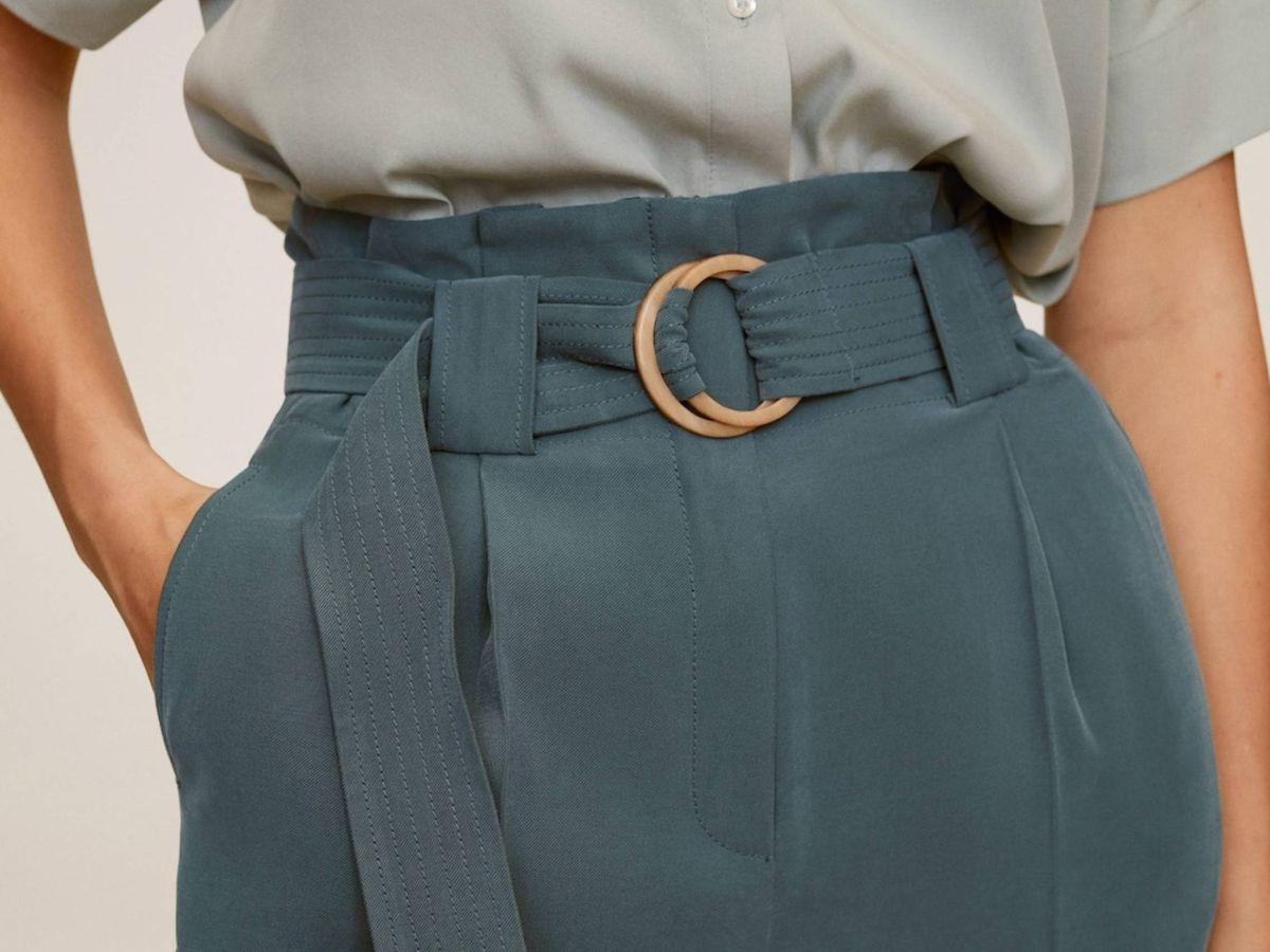 Foto: El pantalón de Mango Outlet. (Cortesía)