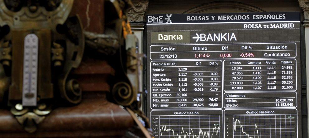 Foto: Bankia celebra su regreso al Ibex en máximos desde el canje de las preferentes