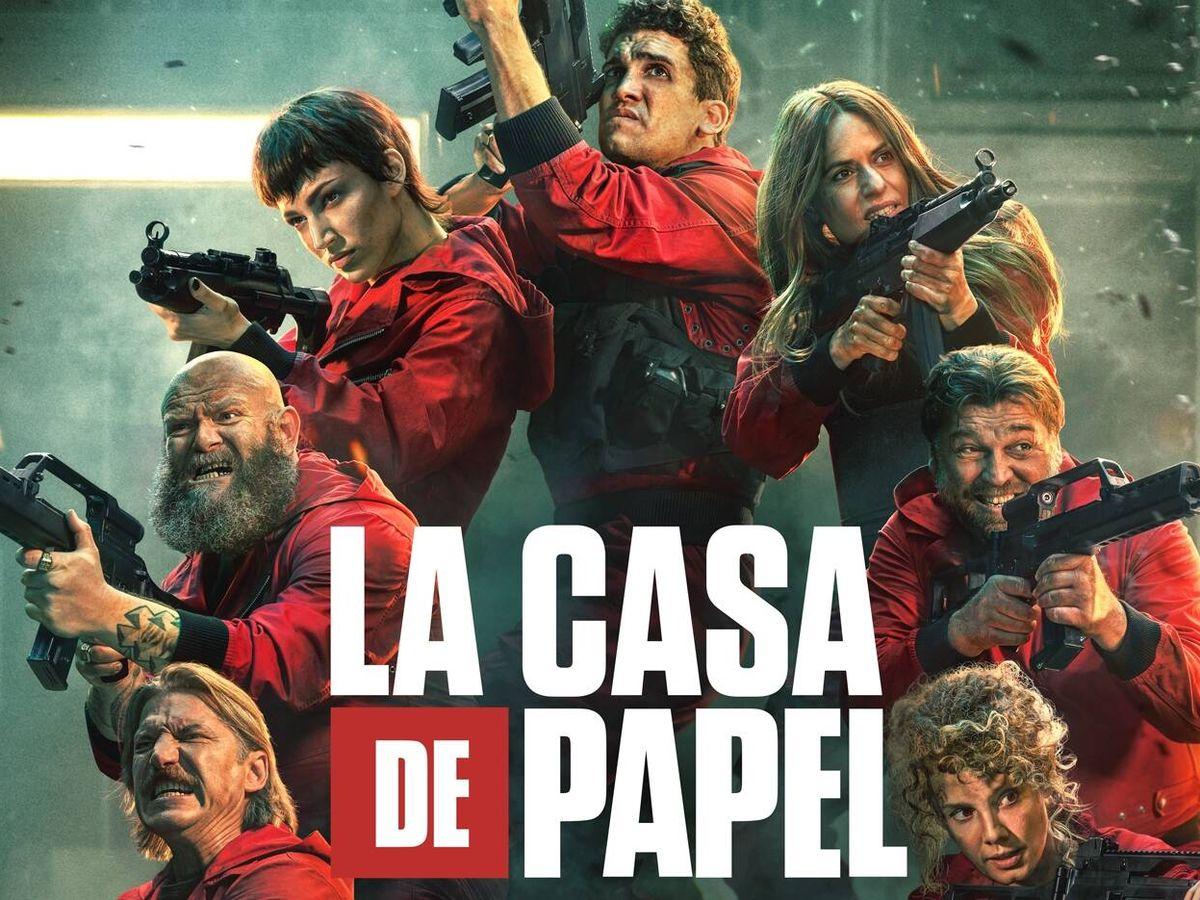 Foto: Parte del cartel promocional de 'La casa de papel 5'. (Netflix)