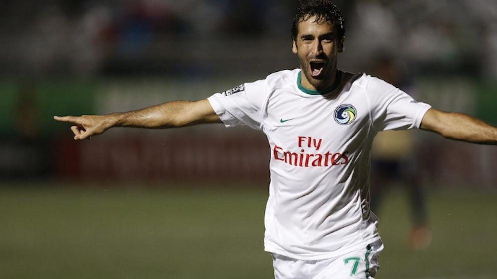 Foto: Raúl celebra un gol con el Cosmos (NY Cosmos).